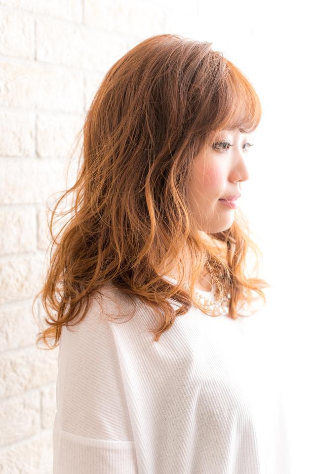 ツヤサラサラモードで大人かわいい前髪のラブクラシカルヘア153:メイン画像