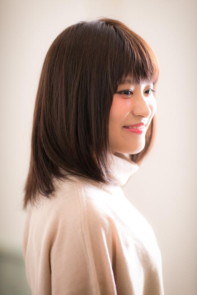 ツヤサラモードで大人かわいい前髪のラブクラシカルヘア160池袋:メイン画像